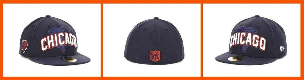 b135112a2 Details about New Era ~ 59FIFTY Chicago Bears NFL Draft Cap  36 NWT