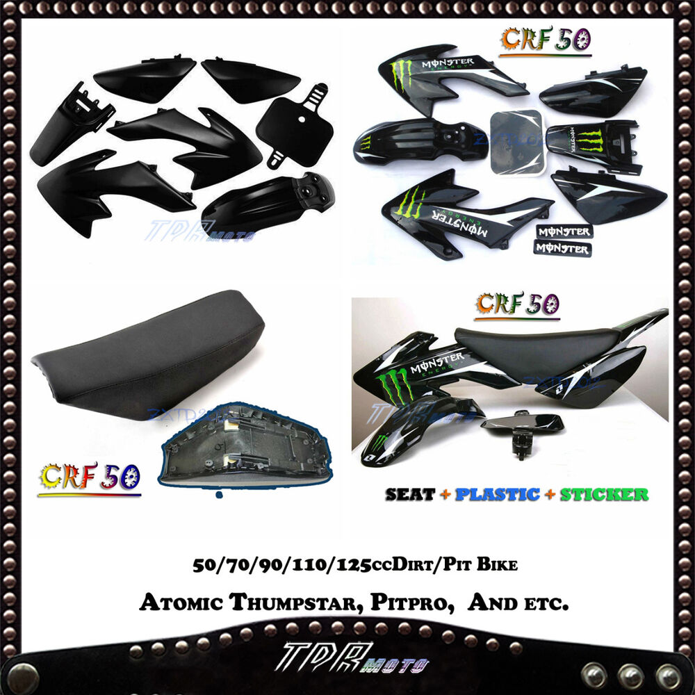 crf50 plastics stickers seat dirt pit bike 50 70 90. Black Bedroom Furniture Sets. Home Design Ideas