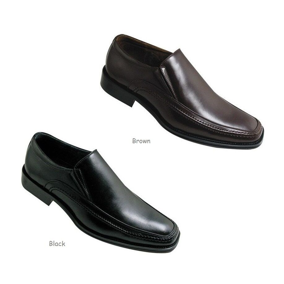 Brown Faux Leather   Mens Shoes