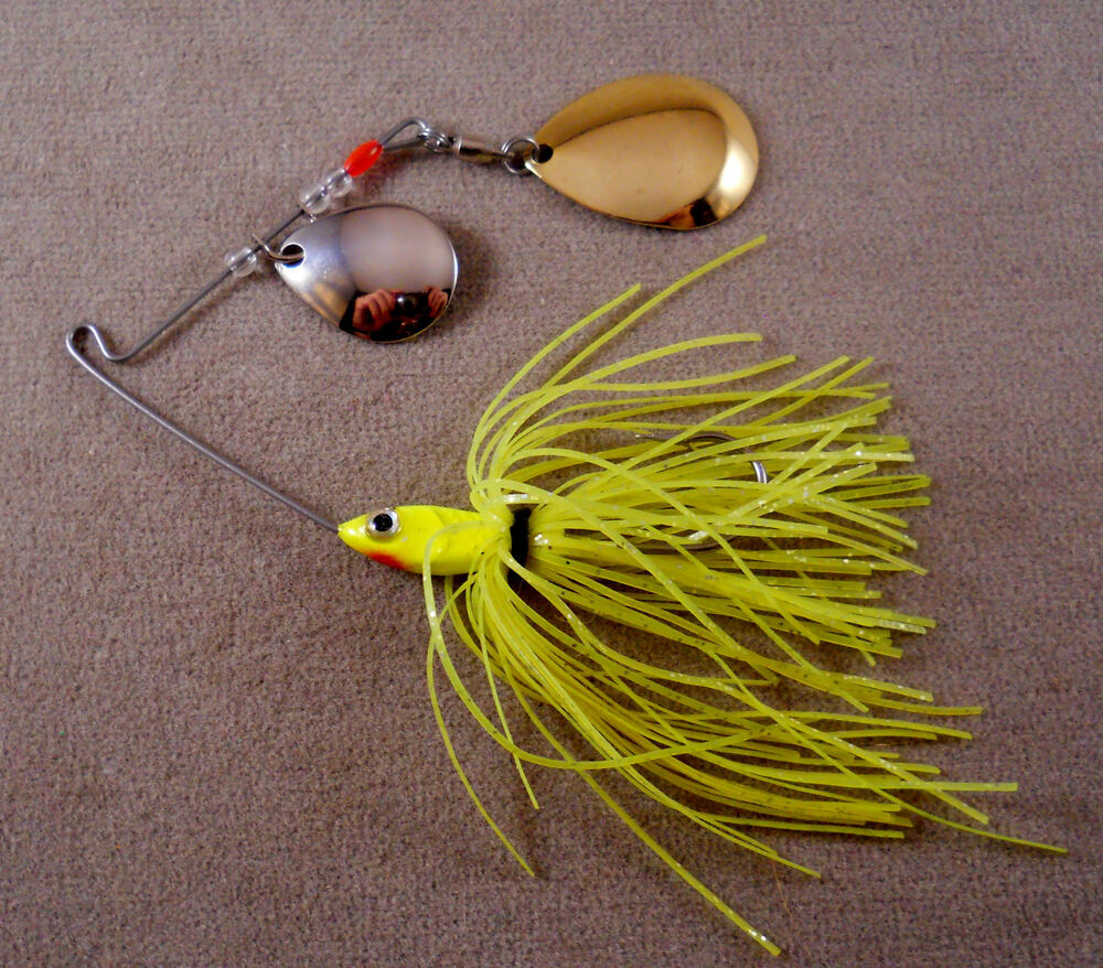 Bass fishing lure dr custom spinnerbait 1 4 oz with 2 for Bass fishing in colorado