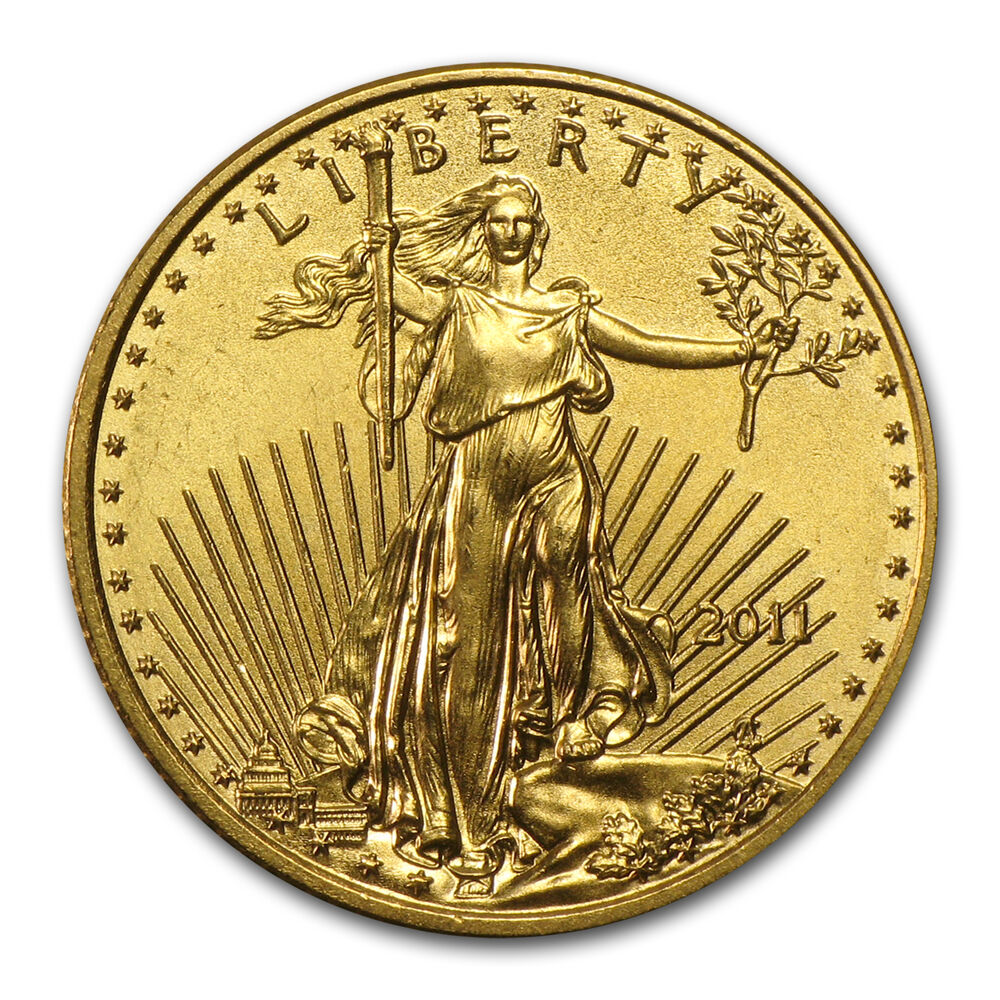2011 1 10 Oz Gold American Eagle Coin Brilliant