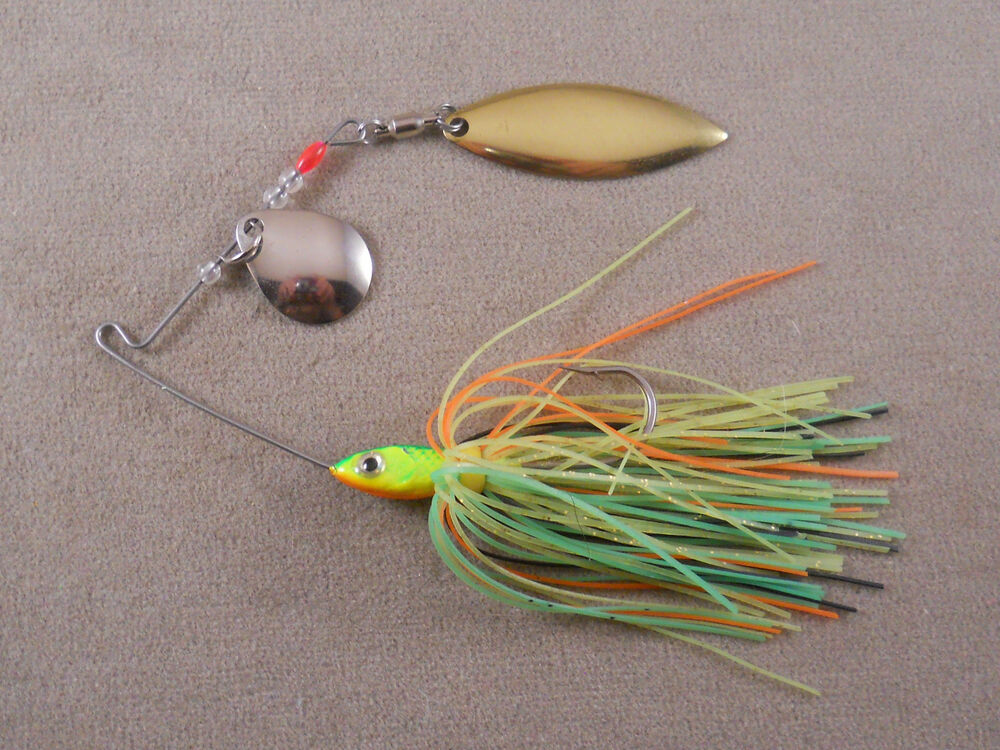 Bass fishing lure dr custom spinnerbait 1 4 oz with 1 for Bass fishing in colorado