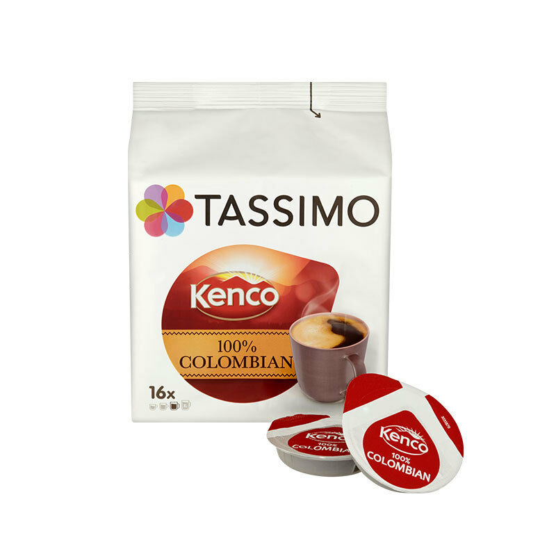 tassimo t discs kenco 100 colombian coffee pods ebay. Black Bedroom Furniture Sets. Home Design Ideas