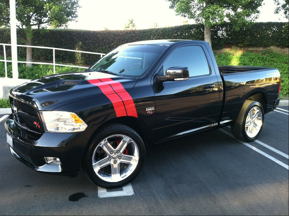 truck fender hood stripes stripe 09 2015 ram r t durango 1500 2500 3500 ebay. Black Bedroom Furniture Sets. Home Design Ideas
