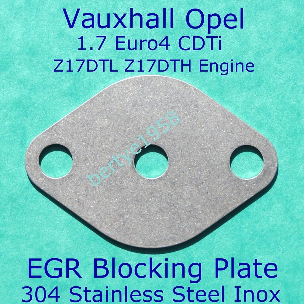 egr valve restrictor plate vauxhall opel 1 7 cdti z17dtl z17dth astra corsa h ebay. Black Bedroom Furniture Sets. Home Design Ideas