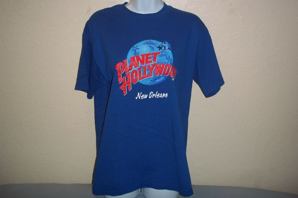 Planet hollywood new orleans t shirt mens womens medium ebay for Planet hollywood t shirt