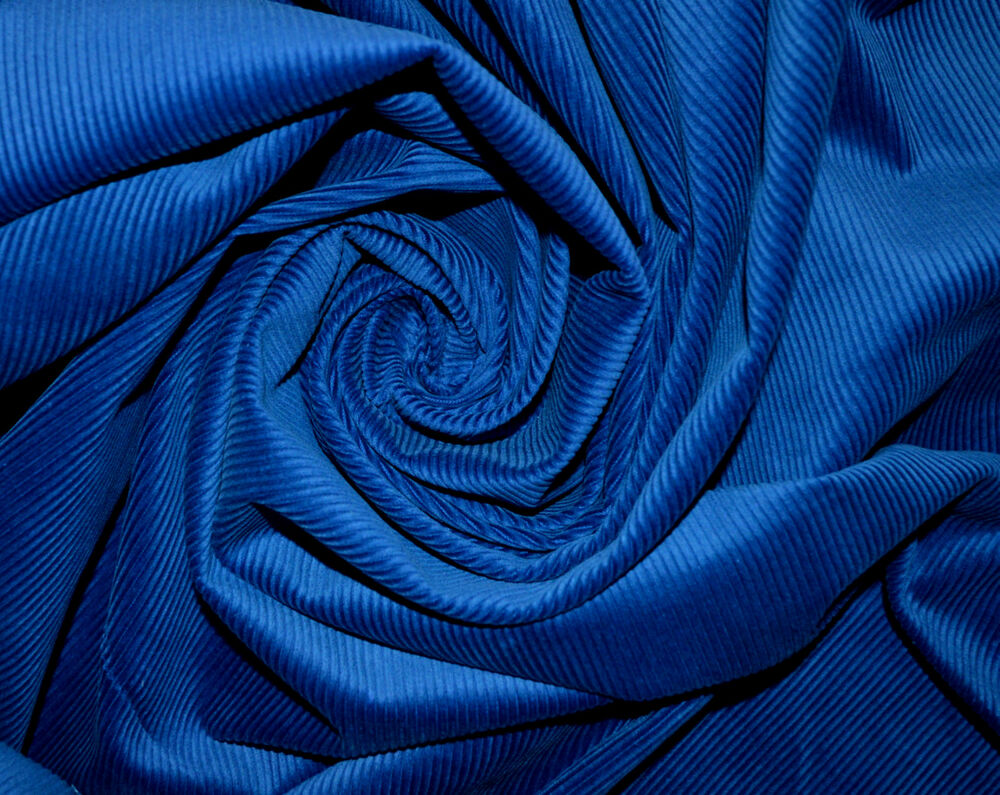 Royal blue 11 wale cord corduroy fabric 100 cotton for Kids corduroy fabric