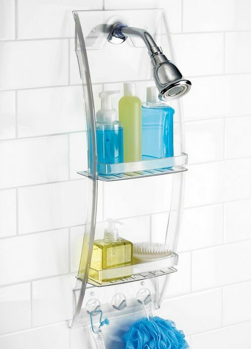 mounted bathroom shower organizer caddy storage hanging bath shampoo soap wash ebay