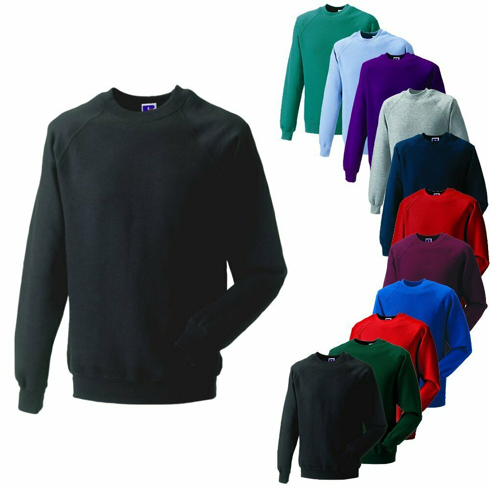 russell raglan sweat shirt herren arbeits pullover pulli gr x s 4xl ebay. Black Bedroom Furniture Sets. Home Design Ideas