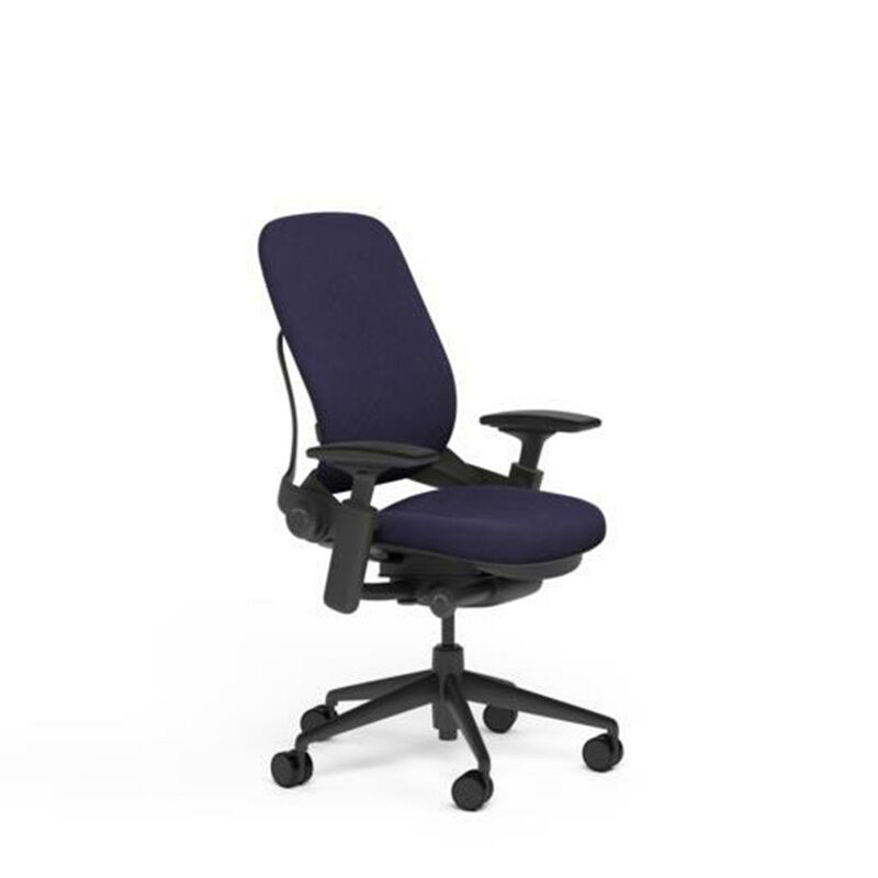 Steelcase Adjustable Leap Desk Chair Buzz2 Crocus Fabric Seat Black Frame