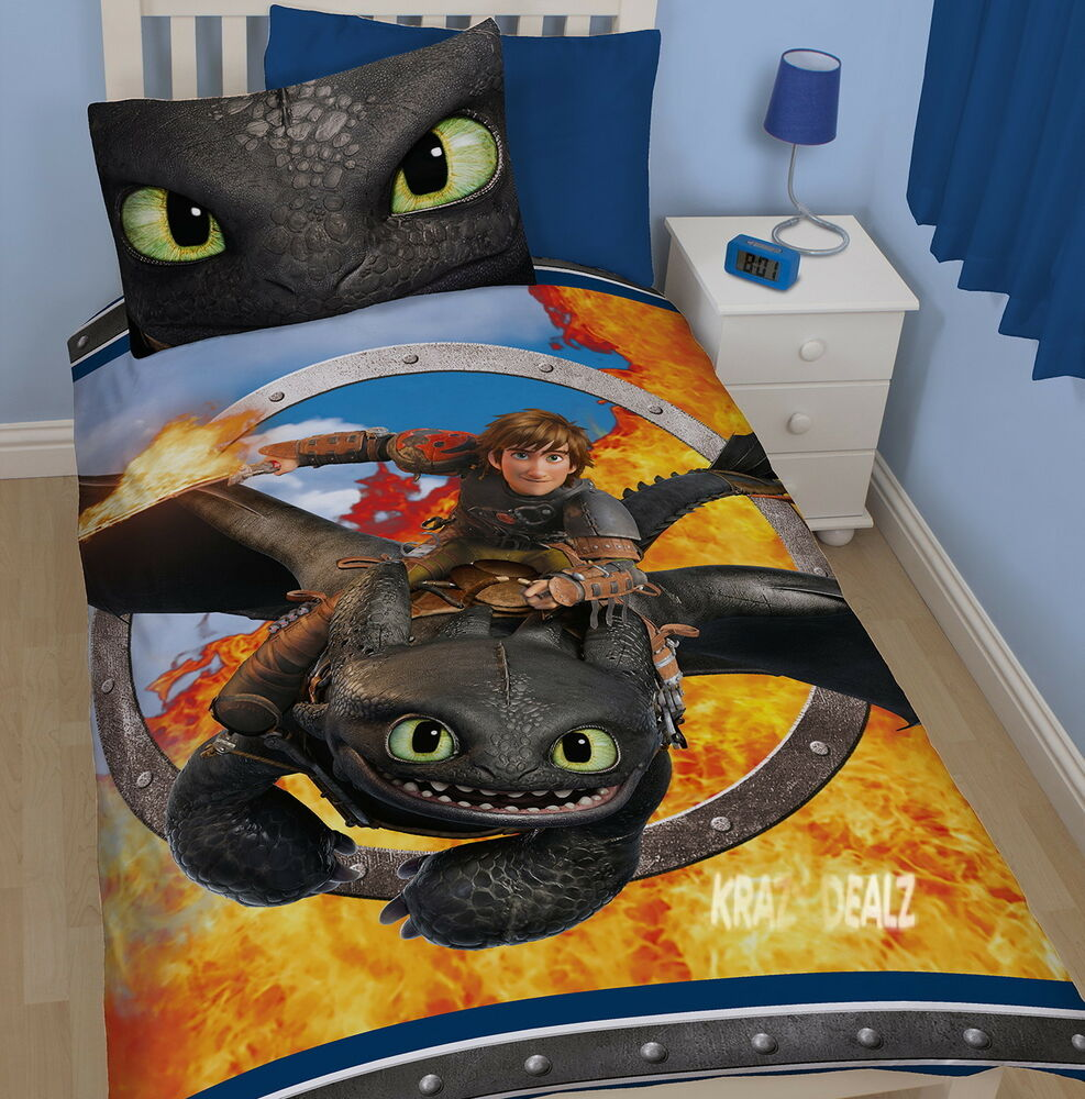 How To Train Your Dragon 2 Toothless Single Panel Duvet