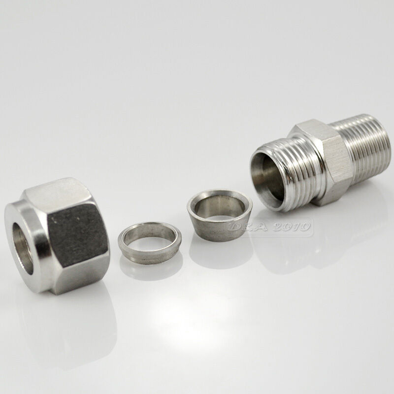 Quot npt mm double ferrule tube fitting male connector