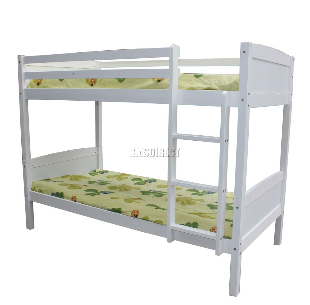 Foxhunter bunk bed 3ft wooden frame children sleeper no for Bunk bed frame with mattress