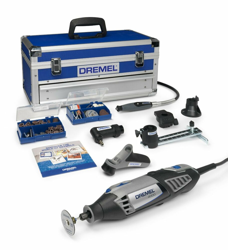 dremel 4000 series 4000 6128 multi tool rotary tool kit with 128 accessories ebay. Black Bedroom Furniture Sets. Home Design Ideas