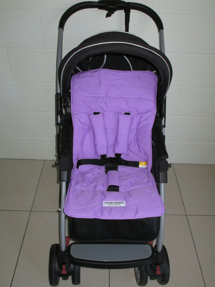 lavender universal stroller pram car seat liner set new ebay. Black Bedroom Furniture Sets. Home Design Ideas