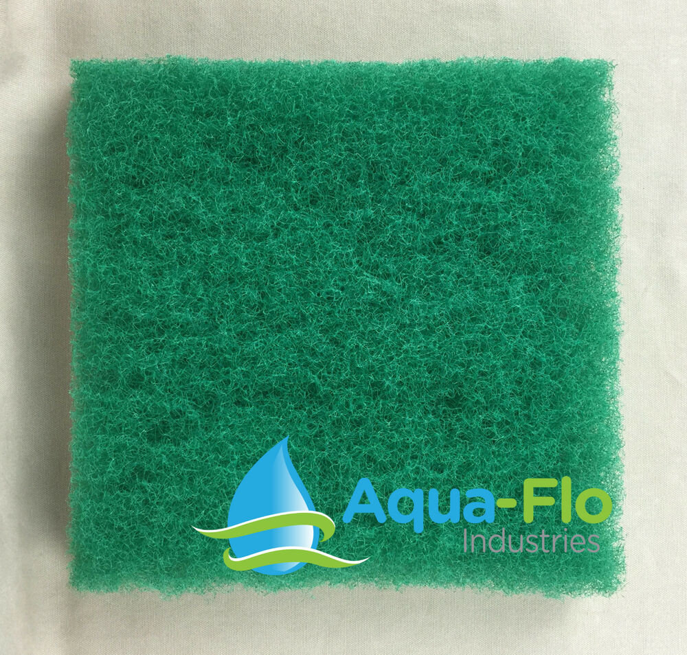 Aqua flo four pack green pond filter mat media pad 12 x12 for Pond filter mat