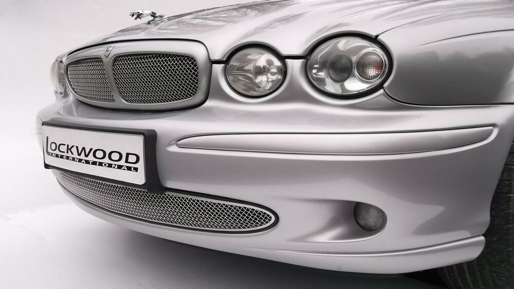 jaguar x type upper and lower radiator grilles stainless. Black Bedroom Furniture Sets. Home Design Ideas