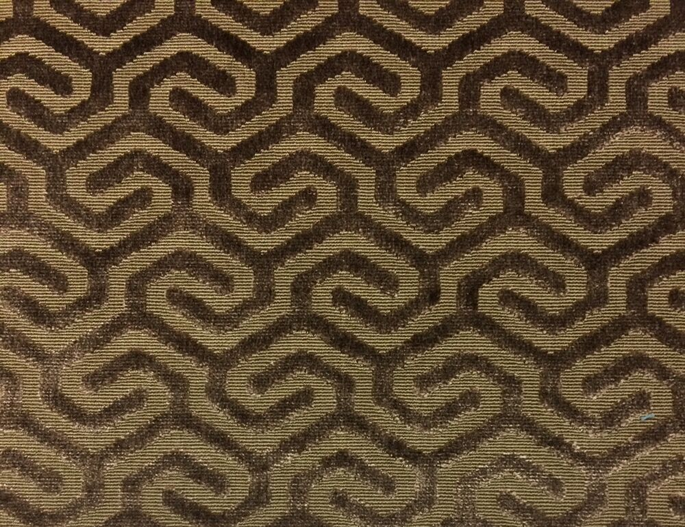 carnegie morocco bark brown geometric velvet upholstery fabric by the yard 51 w ebay. Black Bedroom Furniture Sets. Home Design Ideas