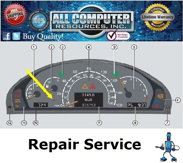 Mercedes w220 s500 s430 s55 s350 instrument cluster repair for Mercedes benz cluster repair