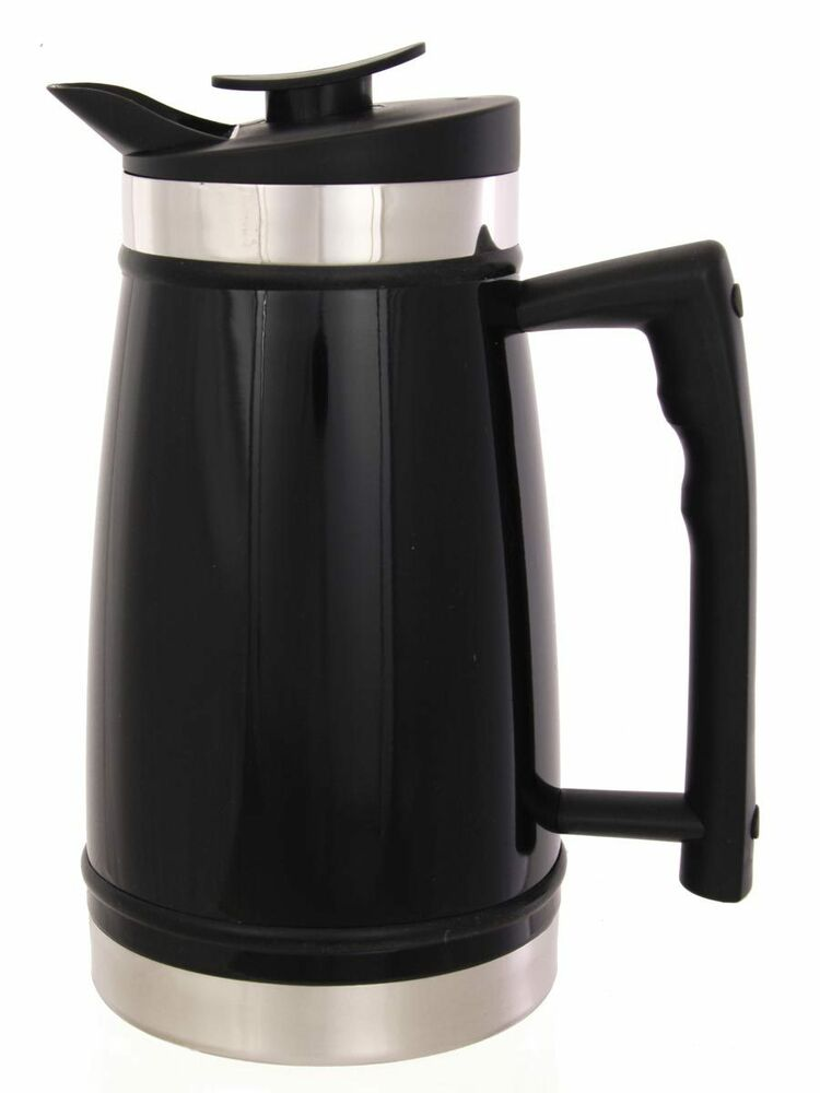 thermal french press cafetiere by planetary design 12 cup black 1 4 litre ebay. Black Bedroom Furniture Sets. Home Design Ideas