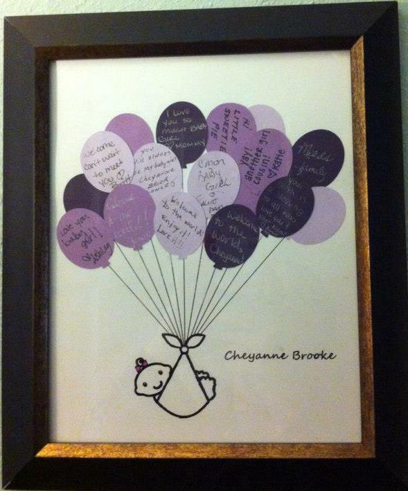 wedding baby shower guest book balloon bouquet 13x19 you choose colors ebay
