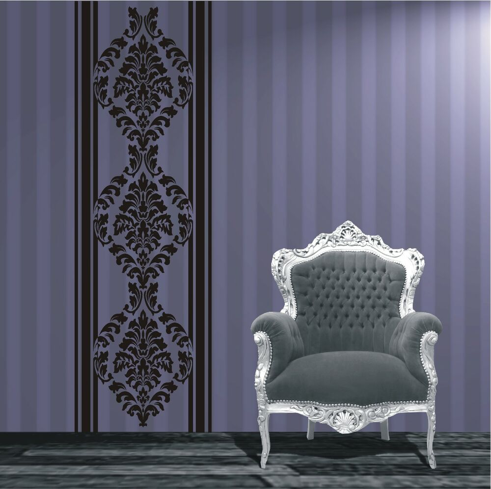 wandtattoo wandaufkleber banner barock ranke ornamente wohnzimmer 515 xl ebay. Black Bedroom Furniture Sets. Home Design Ideas