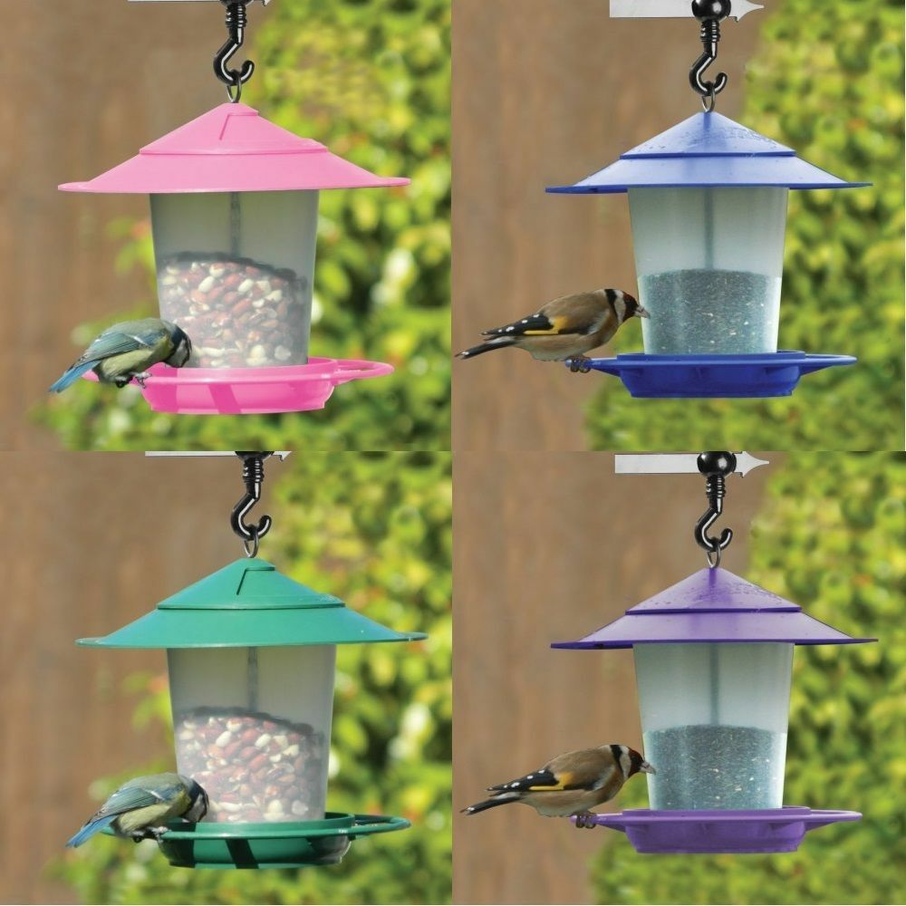 garden hanging lantern bird seed nut feeder bird feeding. Black Bedroom Furniture Sets. Home Design Ideas