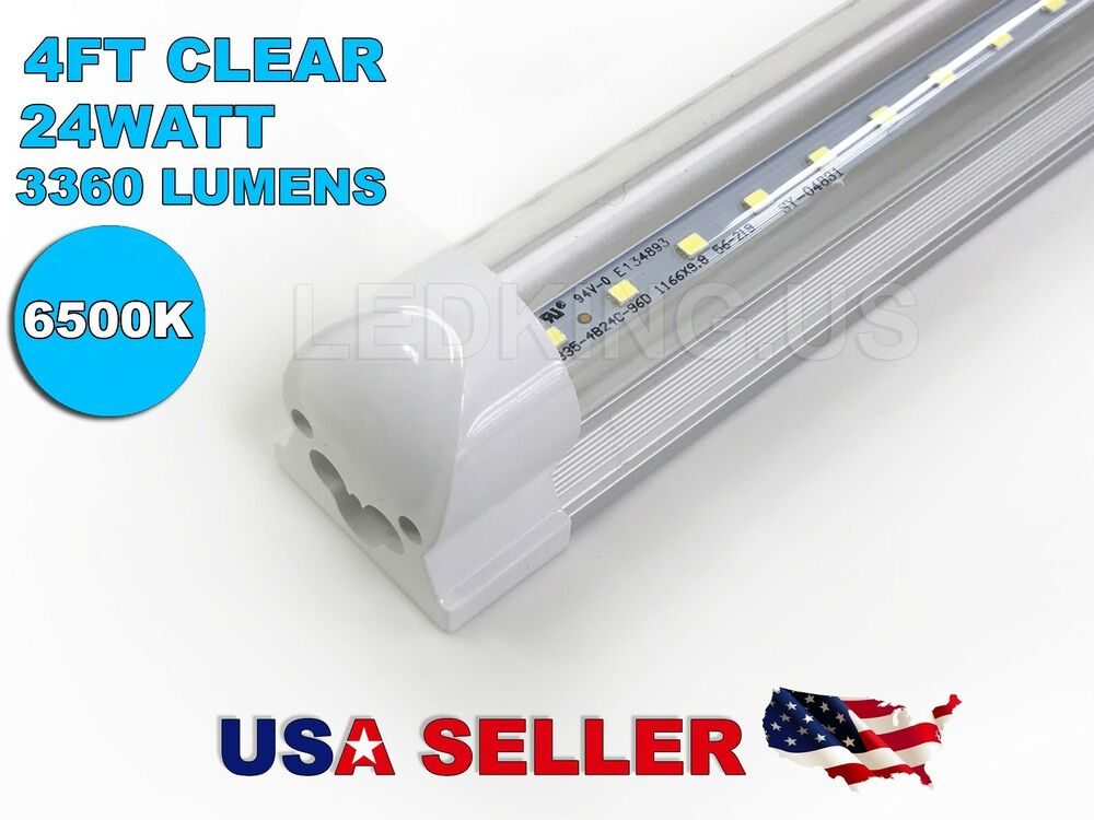 integrated 4ft 24w 6500k clear t8 48 quot fluorescent 89013