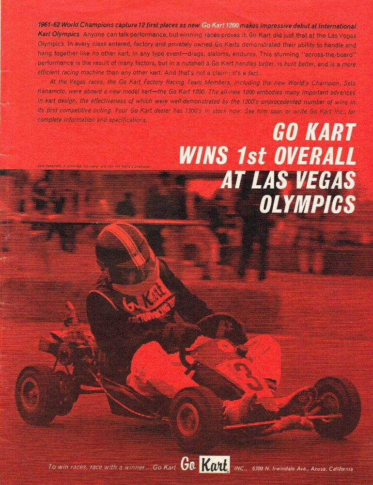 Vintage go kart 1200 ikf ad advertisement las vegas for Ebay motors las vegas