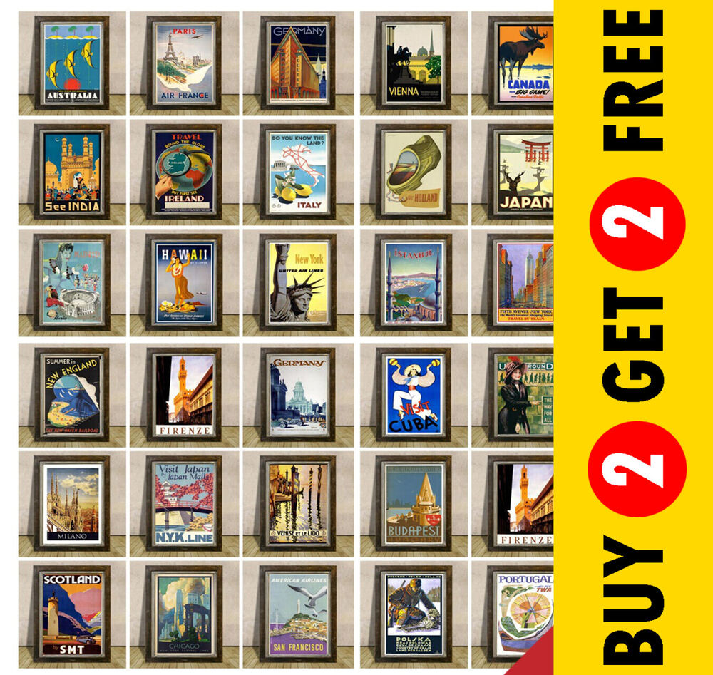vintage travel posters most popular countries cities