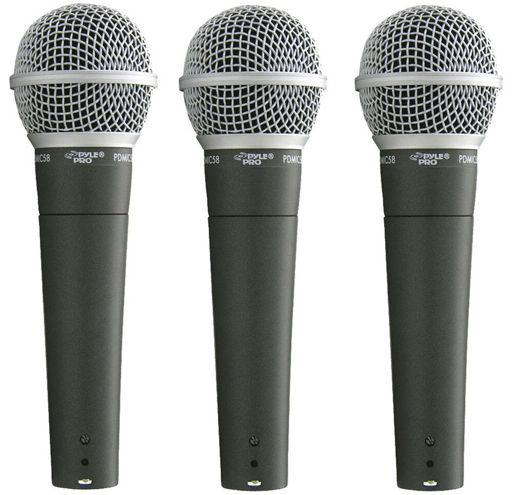 pyle mic dynamic handheld microphone for church stage studio vocal singing 3 pk 68888901796 ebay. Black Bedroom Furniture Sets. Home Design Ideas