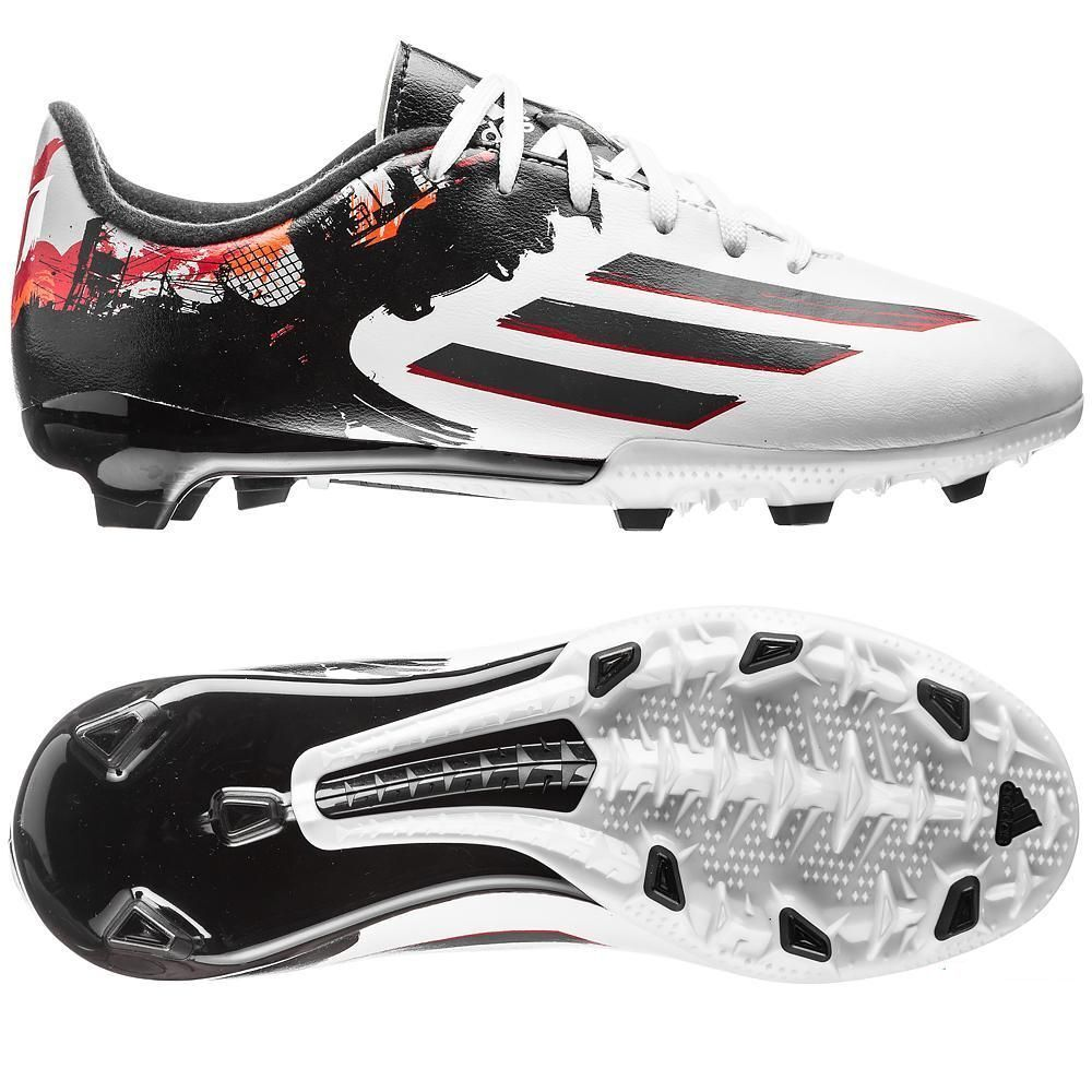 7bef6ca5da5 Details about adidas F 10.3 TRX FG MESSI 2015 Soccer Shoes White   Black    Red KIDS- YOUTH