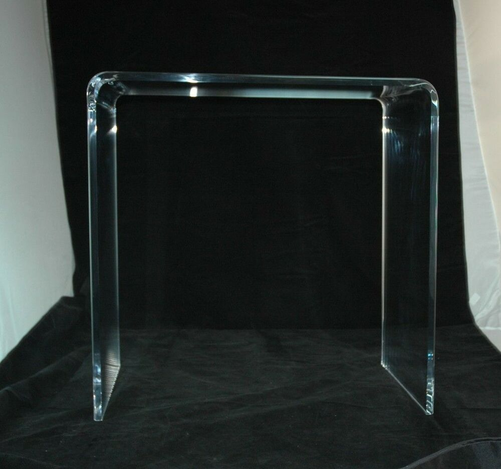 Clear Acrylic Lucite 1 2 Thick Beveled Edge Desk Or