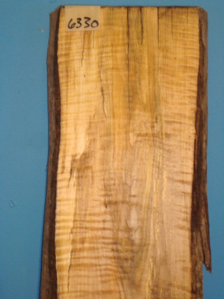 6330 spalted tiger maple live edge slab table top lumber for Maple wood slab