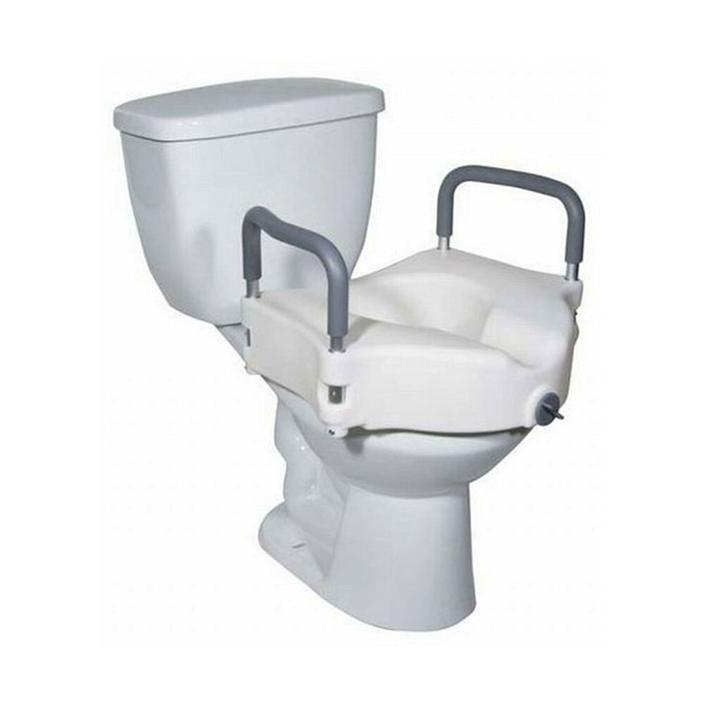 5 Inch Elevated Raised Toilet Seat With Removable Arms