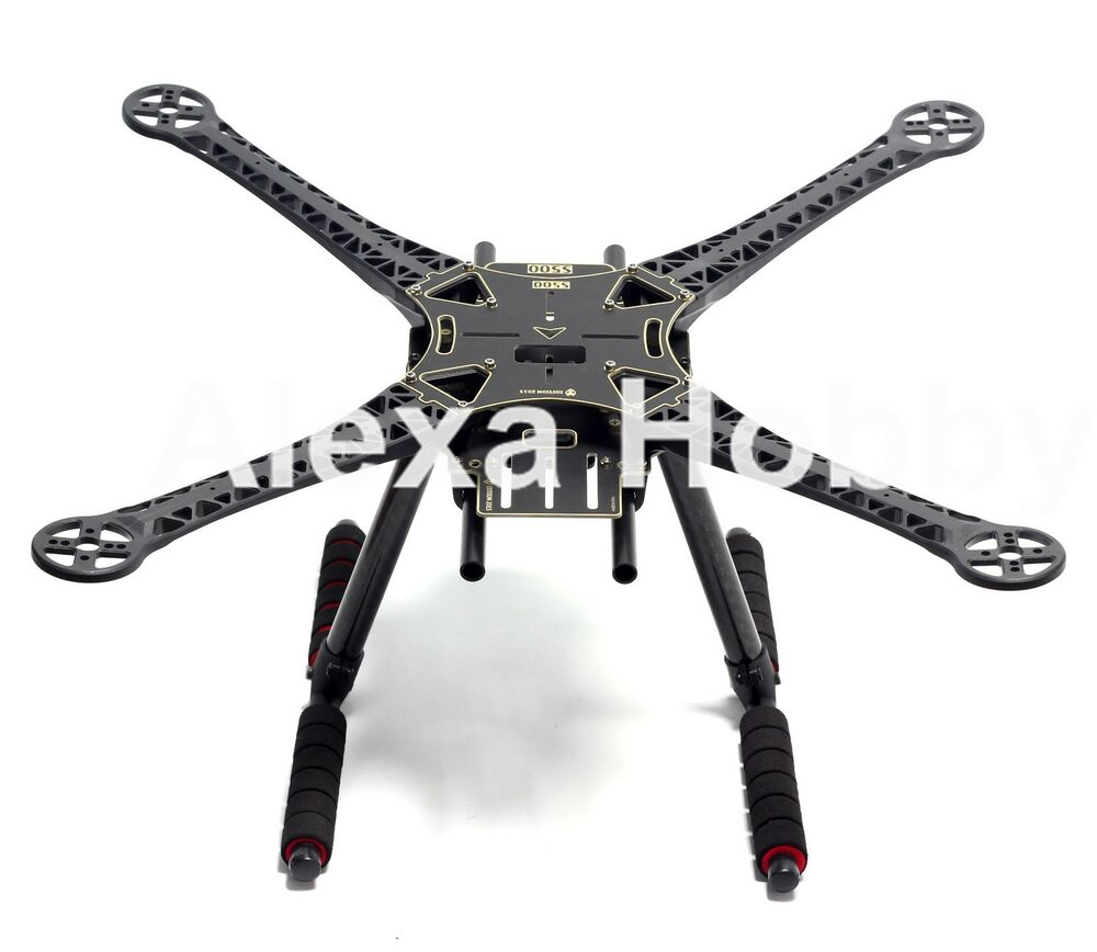 S500 Quadcopter Multicopter Frame Kit Pcb Version W Carbon Fiber Landing Gear Ebay