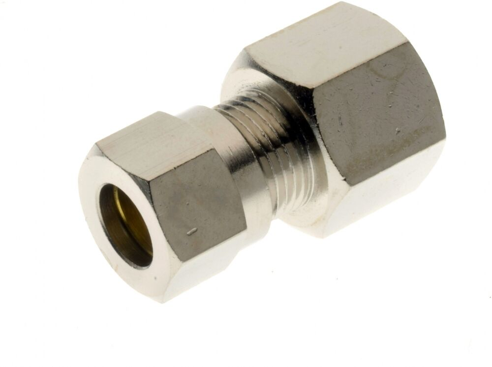 Female stud coupling bsp parallel nickel plated brass