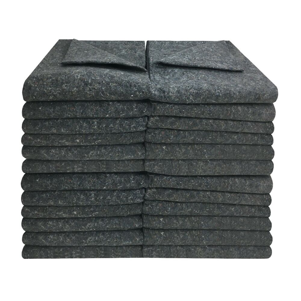 24 Textile Moving Blankets 54x72 Professional Quality Moving Skins Ebay