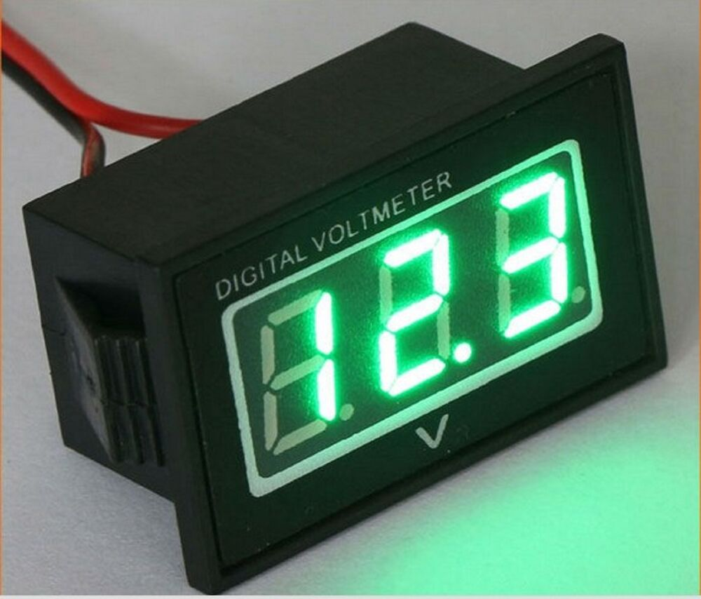 Car Battery Voltage Meter : V golf cart digital volt meter battery gauge club car