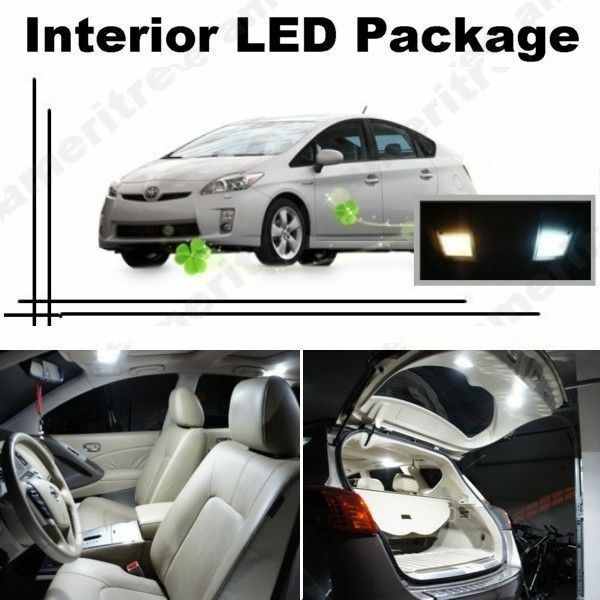 white led lights interior package kit for toyota prius 2004 2008 10 pcs ebay. Black Bedroom Furniture Sets. Home Design Ideas
