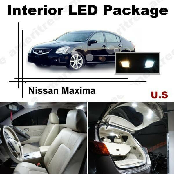 White Led Lights Interior Package Kit For Nissan Maxima 2004 2008 11 Pcs Ebay