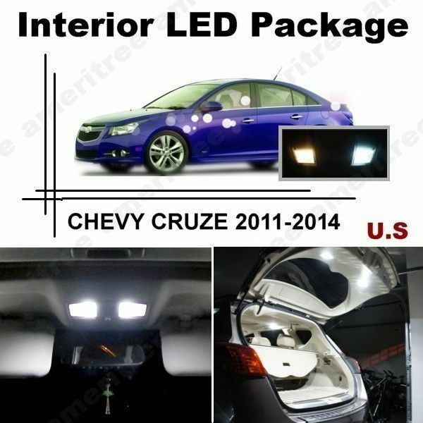 White Led Lights Interior Package Kit For Chevy Cruze 2011 2014 10 Pcs Ebay