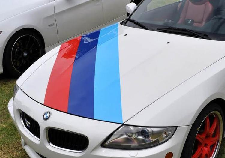Bmw M Color Stripes Rally Hood Racing Motorsport