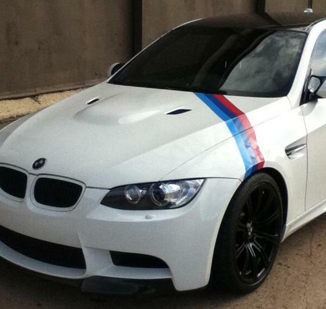 BMW M Color Stripes Rally Side Hood Racing Motorsport Vinyl Decal - Bmw vinyl stickers