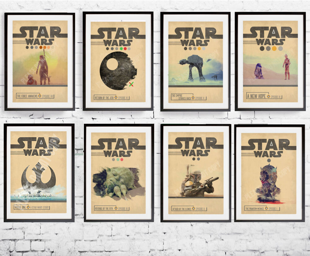 A3 or A4 Size * STAR WARS Alternative Movie Posters ...