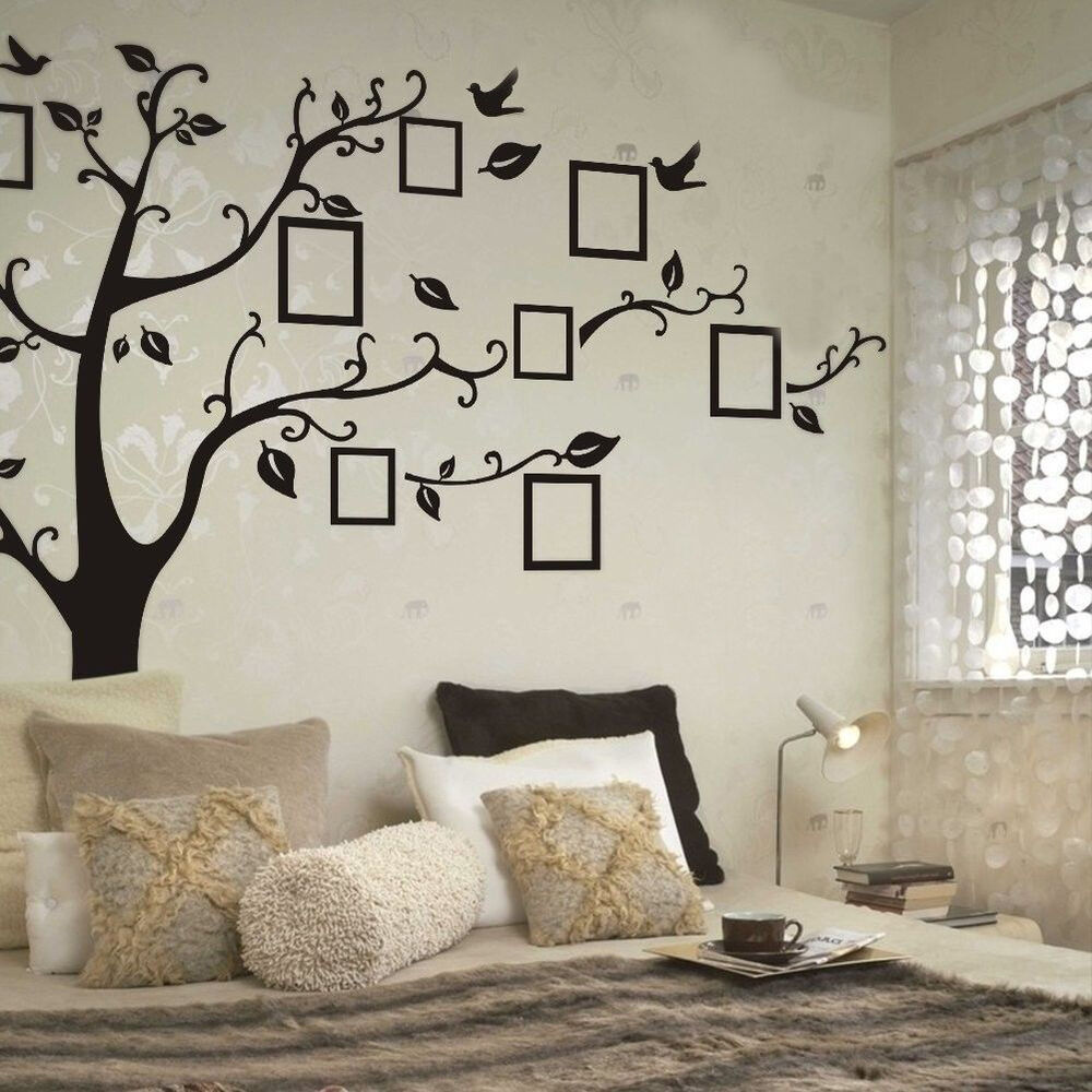 Wall Stickers Decoration Artistic Family Tree Removable Wall Stickers Vinyl Art Decal Room Home EBay