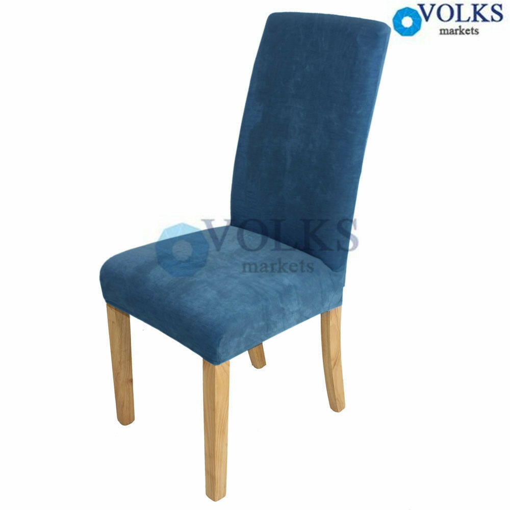 short dining room chair cover slip cover protectors blue ebay