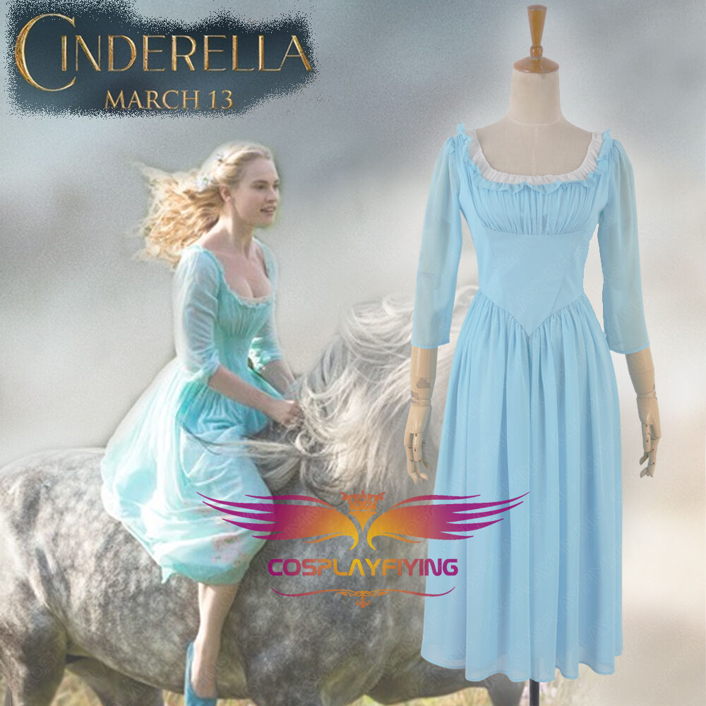 Cinderella 2015 Costumes Girls Dresses Shoes Jewelry