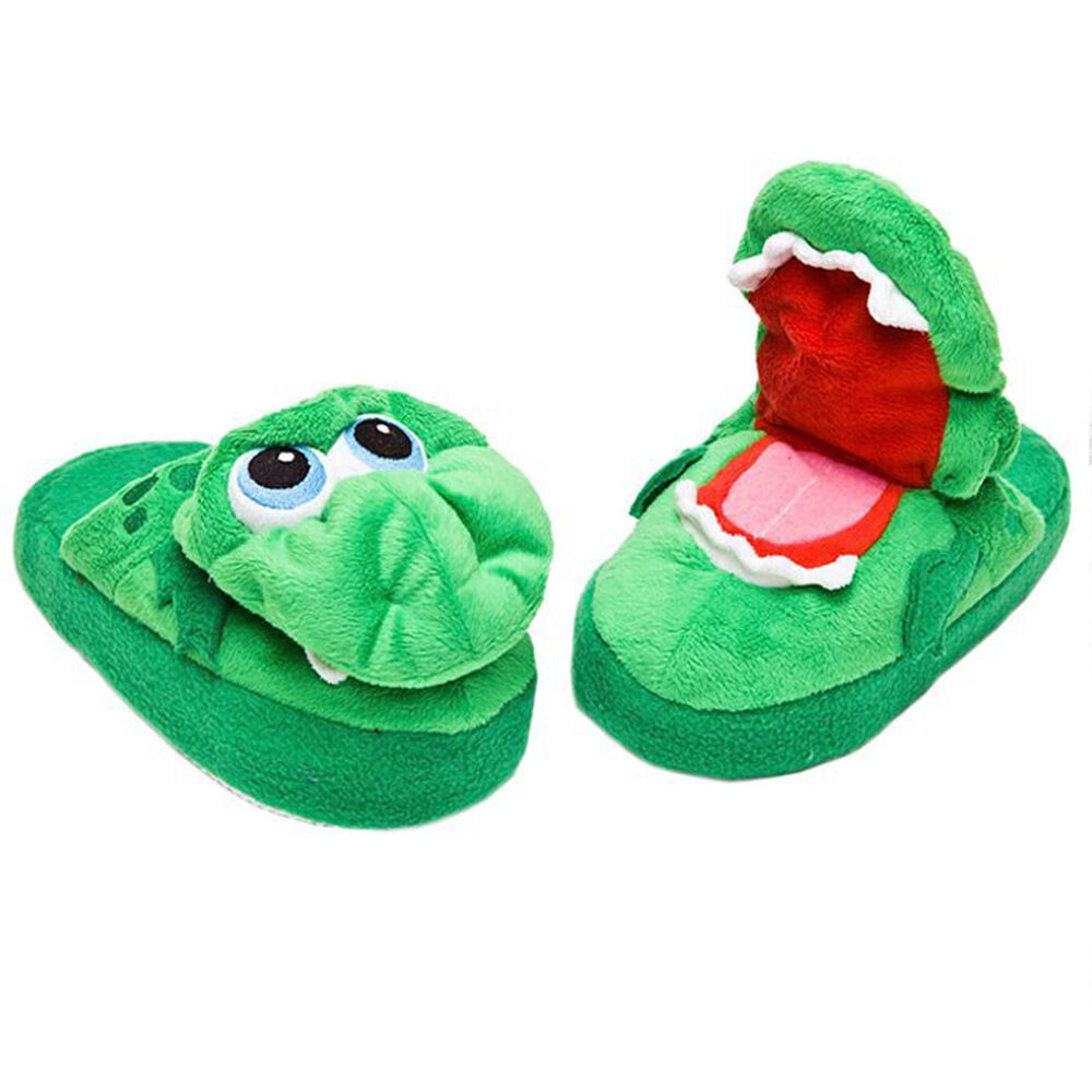 Slippers childrens novelty funny toy stompeez growling for Novelty children s fabric