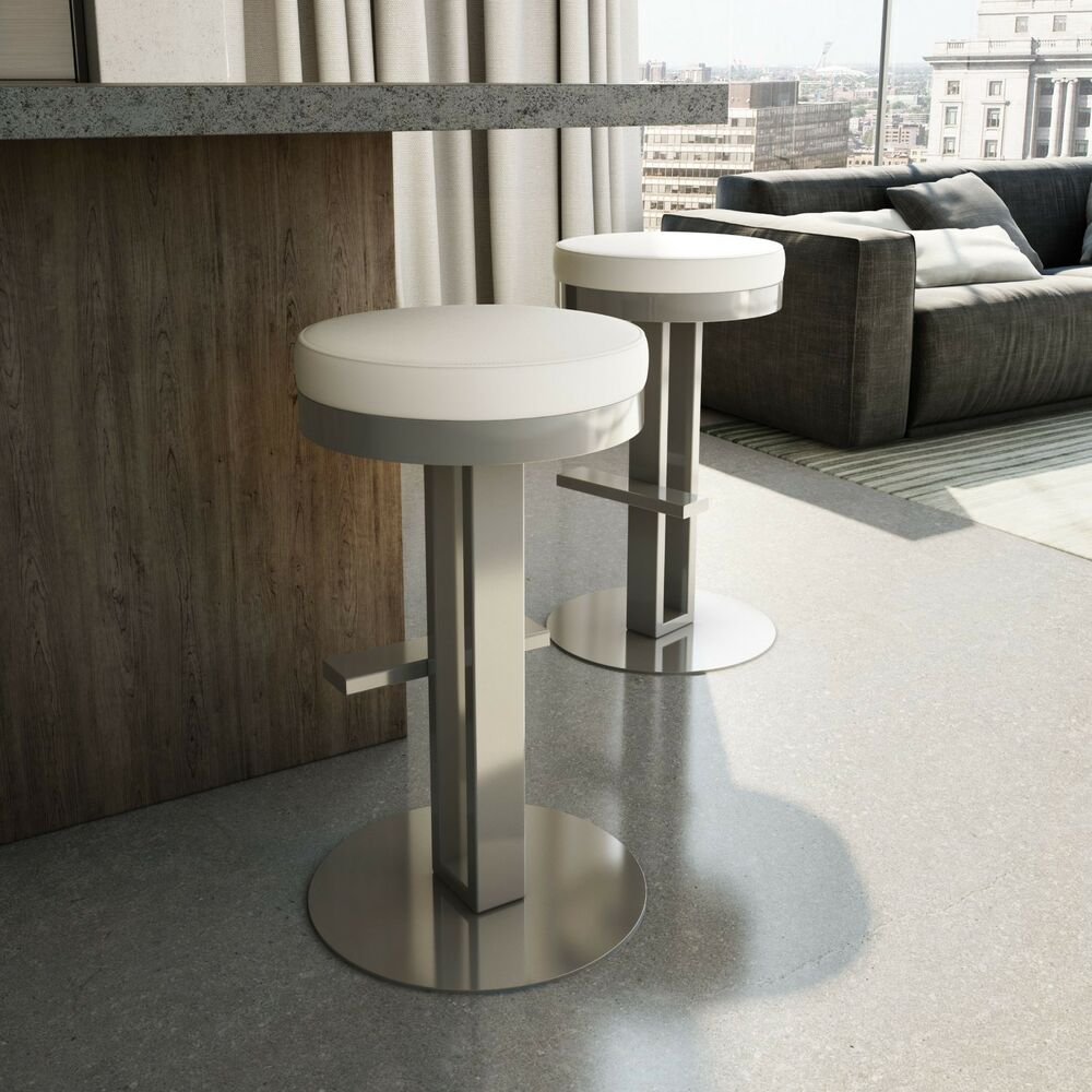 Amisco Glint Swivel Backless Counter Or Bar Stool 42495